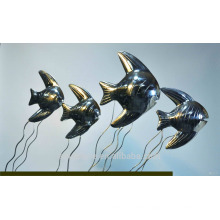 2016 New Art decoration Fish Shaped Stainless Steel Sculpture